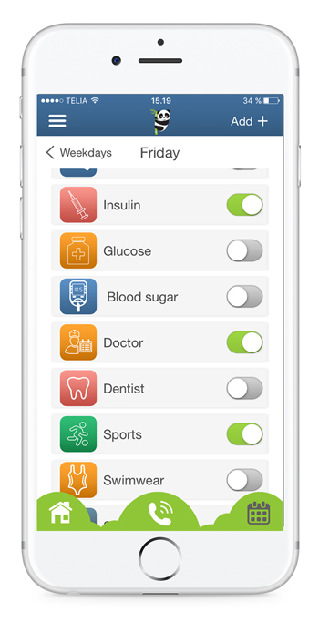 Reminder app that reminds you about medicine, epipen, insulin, bloodsugar, feed the dog and many other tasks.