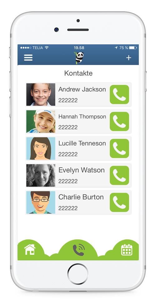Einfach positive Erinnerungsapplikation und Einfach Anrufe - Bear In Mind App