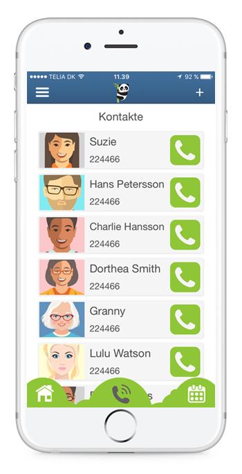 Kreiere Kontakte für schnelle Anrufe - Bear In Mind App