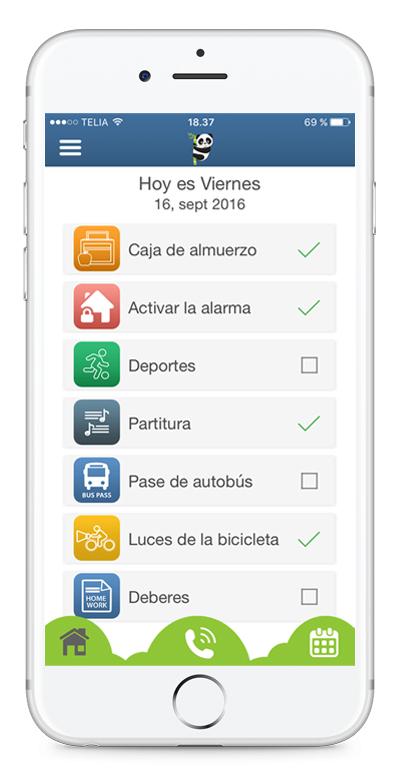 Aplicación de lista de tareas y recordatorios para niños y jovenes
